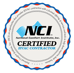 NCI certified HVAC contractor